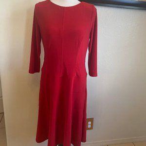 Anne Klein Stretchy Red Dress Size 8